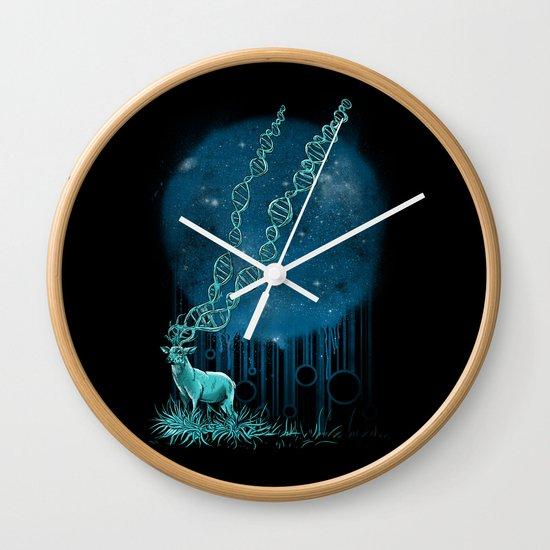 DNA Deer Wall Clock