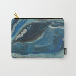 Water Dragon, Abstract Fluid Acrylic Painting Carry-All Pouch