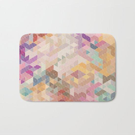 Soft Mini Triangles Bath Mat