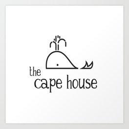 The Cape House - Whale Life Art Print