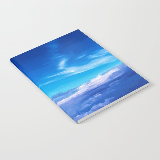 Above the clouds sky is always blue Notebook