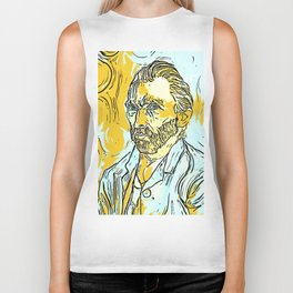 Vincent Van Gogh Sketch Biker Tank