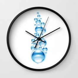 Bubbles for freedom Wall Clock