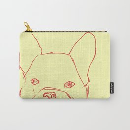 Sketched Frenchie Carry-All Pouch