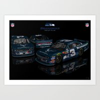 seahawks Art Prints featuring Seattle Seahawks NASCAR by ernhrtfan
