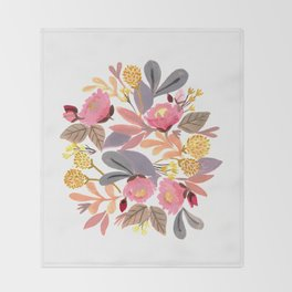 Winter Floral Throw Blanket