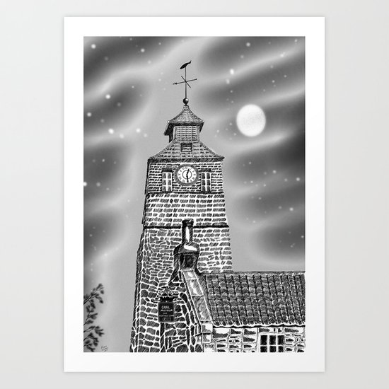 Crail Tollbooth and Clock tower Art Print