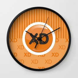 Orange Writer's Mood Wall Clock