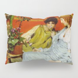 Confidences 1869 by Sir Lawrence Alma Tadema   Reproduction Pillow Sham