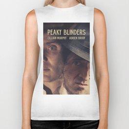 Peaky Blinders poster, Cillian Murphy is Thomas Shelby, Adrien Brody is Luca Changretta Biker Tank