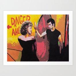 Danny and Sandy Art Print
