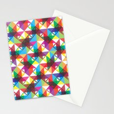 Abstract blocks pattern Stationery Cards