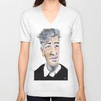 david lynch V-neck T-shirts featuring David Lynch by Be Sound Art