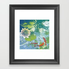 Fish pool  Framed Art Print