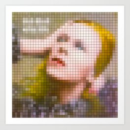 Bowie : Hunky Dory Pixel Album Cover Art Print