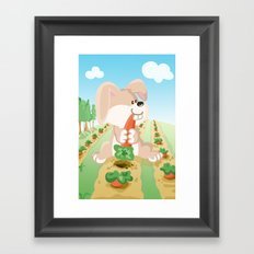 Bunny from the Land of the Three Framed Art Print