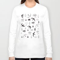swallow Long Sleeve T-shirts featuring swallow by Hui_Yuan-Chang