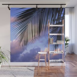 Tropical Palm Leaves at Sunset Wall Mural
