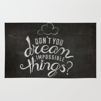 lyrics Area & Throw Rugs featuring LYRICS - Don't you dream by Molly Freze