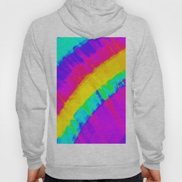 Bright Colorful Abstract Brushstroke Rainbow Hoody
