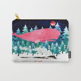 Whimsical Whale, Fox and steam train Carry-All Pouch