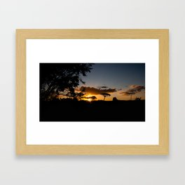 The light is fading, the heart is waining Framed Art Print