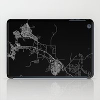darwin iPad Cases featuring Darwin map Australia by Line Line Lines