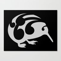kiwi Canvas Prints featuring Kiwi by mailboxdisco