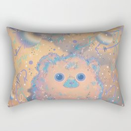 Fuzzy Creature in the Clouds Rectangular Pillow