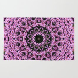 Kaleidoscope of purple flowers D Rug