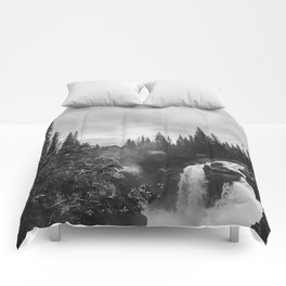 Athabasca Falls Comforters