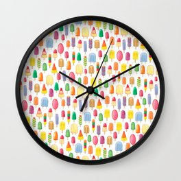 Ice Lolly, Popsicle, Ice Cream, Print.  Wall Clock