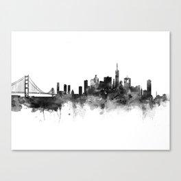 San Francisco Black and White Canvas Print