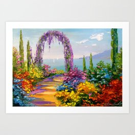 Blooming arch Art Print
