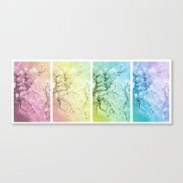 Van Gogh Almond Blossoms : Pastel Rainbows Panel Art Canvas Print