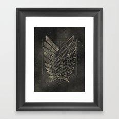 Attack on Titan  Framed Art Print