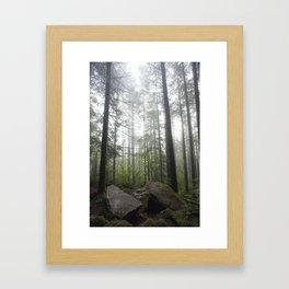 Below Giants Framed Art Print