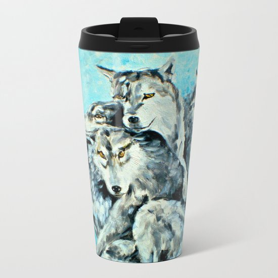 Our Brothers, the Wolves Metal Travel Mug