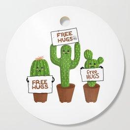 Free Hugs Cactus Cutting Board