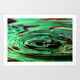 Envy - Emotions Water Drop Photography Art Print