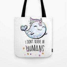 Funny Narwhal gift, Cute Narwhal Unicorn, Whale lover gift, Narwhal lover gift Tote Bag