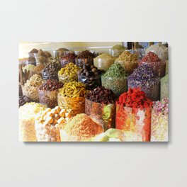 Dubai Creek Spices Metal Print