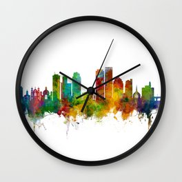 Dayton Ohio Skyline Wall Clock