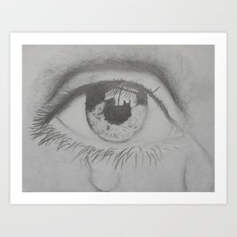 Crying eye Art Print
