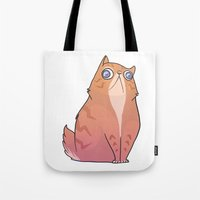persian Tote Bags featuring Persian by Suzanne Annaars