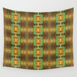 Bohemian mint and brown pattern Wall Tapestry