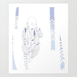 Bulrushes Art Print