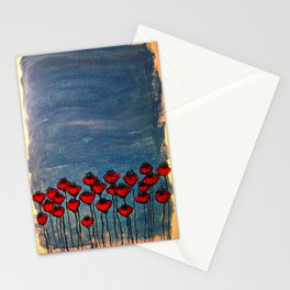 Sea of poppies. Stationery Cards