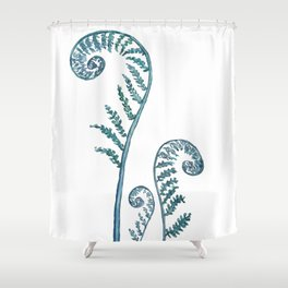fern painting 2017 Shower Curtain