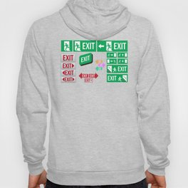 Evacuation Day Exit Signs Hoody